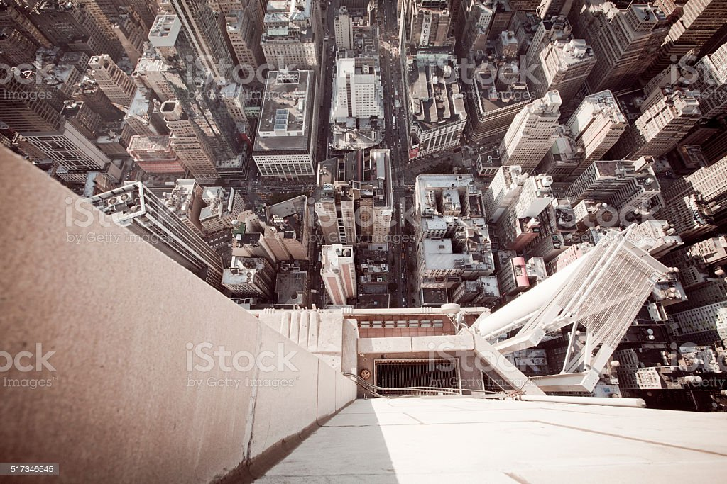High angle view from Empire State Building at 86th floor stock photo