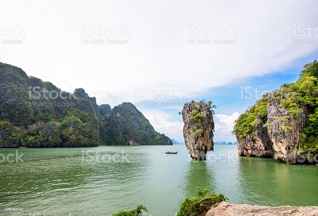 High angle view Khao Tapu island stock photo