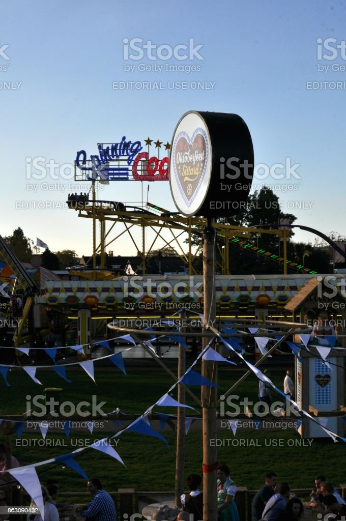 High Angle View of 2017 Sittard Oktoberfest stock photo