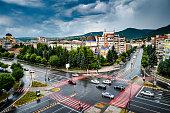 istock High angle view of city of Deva in Transylvania, Romania 1329689755