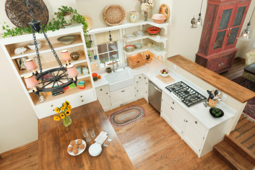 High Angle View of Contemporary classic Kitchen Design