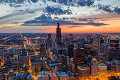 Downtown Chicago at Dusk