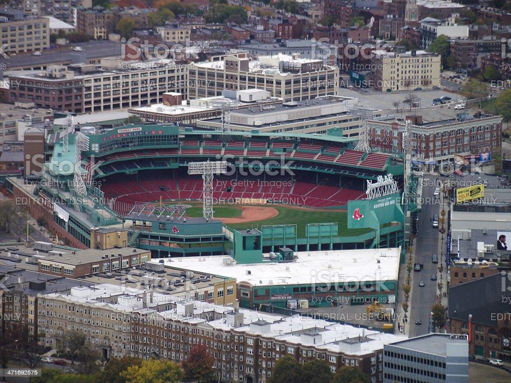 Vista de alto ángulo de fenway park - foto de stock