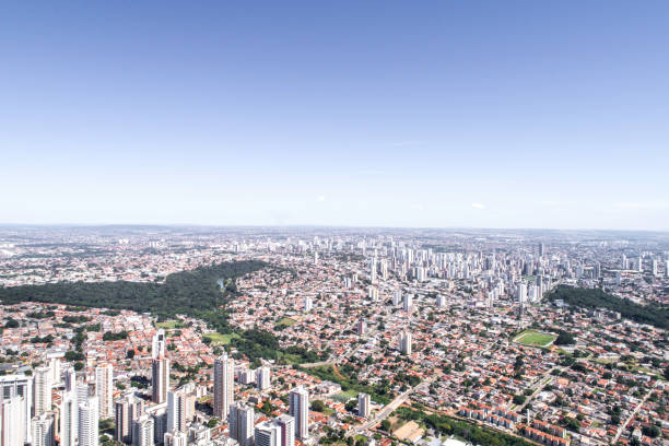 High angle view of Goiânia, Goiás High angle view of Goiânia, Goiás goiás city stock pictures, royalty-free photos & images