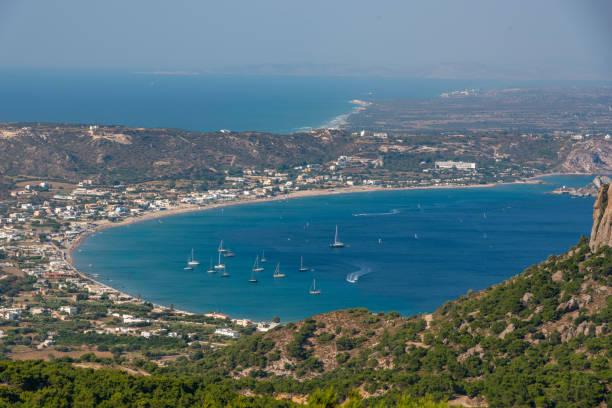 high angle view of island Kos. stock photo