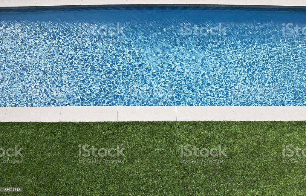 High angle view of modern swimming pool stock photo