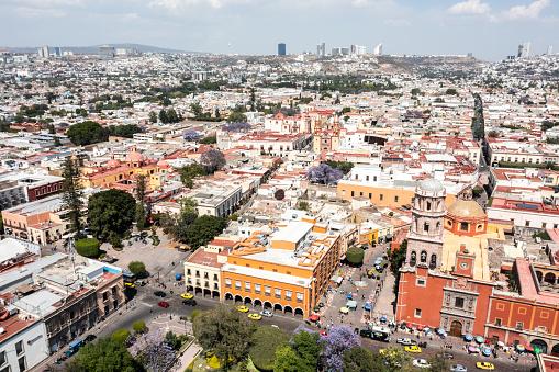 High angle view of Queretaro city, Mexico