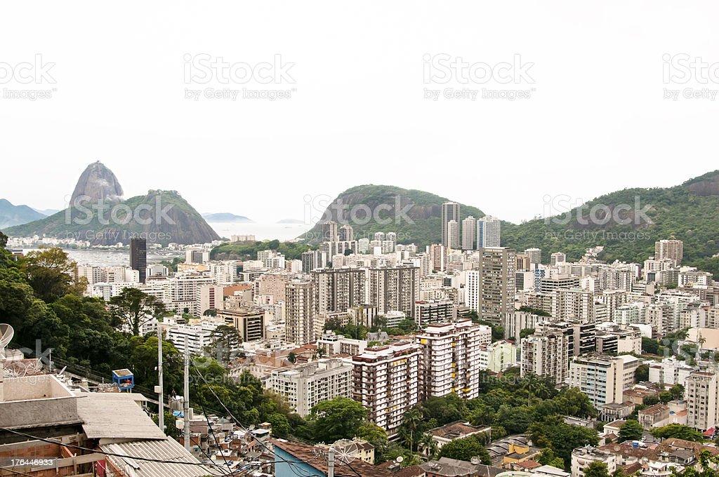High angle view of Rio de Janeiro, Brazil royalty-free stock photo