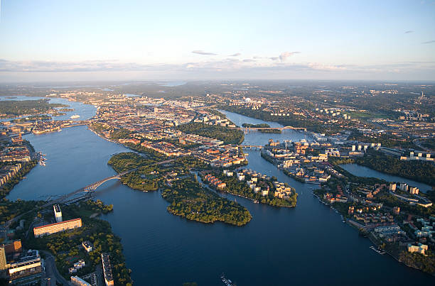 High angle view of Stockholm stock photo