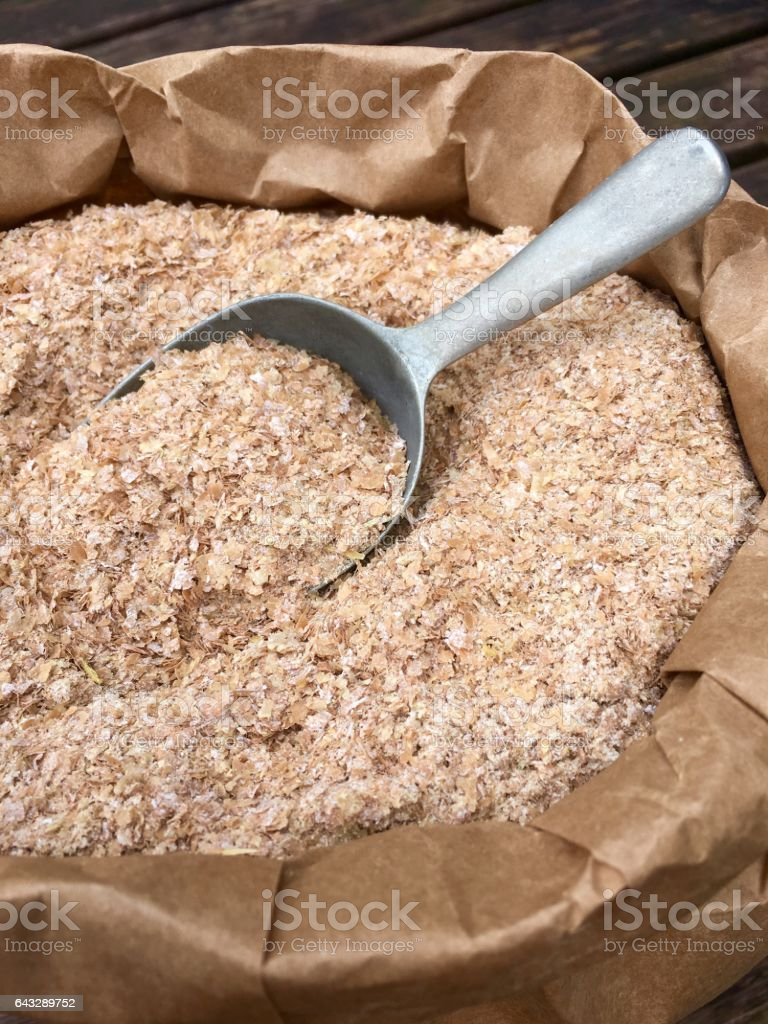 High angle view of wheat bran stock photo