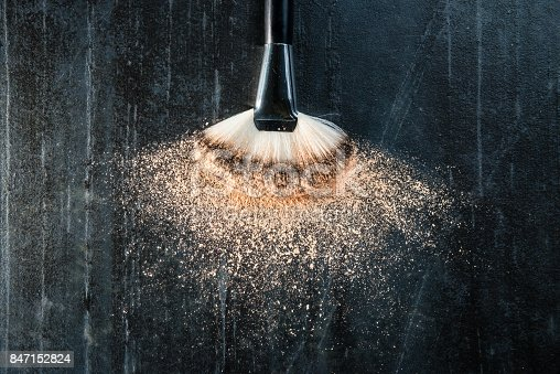 847152782 istock photo high angle view photo of cosmetic brush 847152824