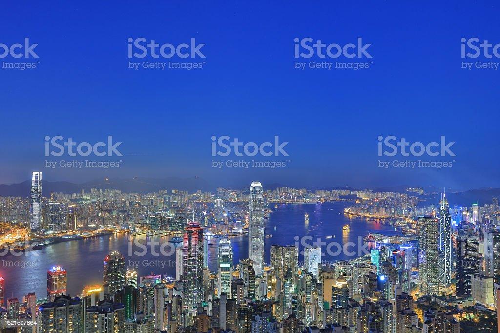 High Angle Viewpoint In Hong Kong photo libre de droits
