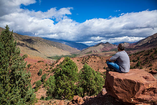 High Atlas mountain pass, Morocco stock photo