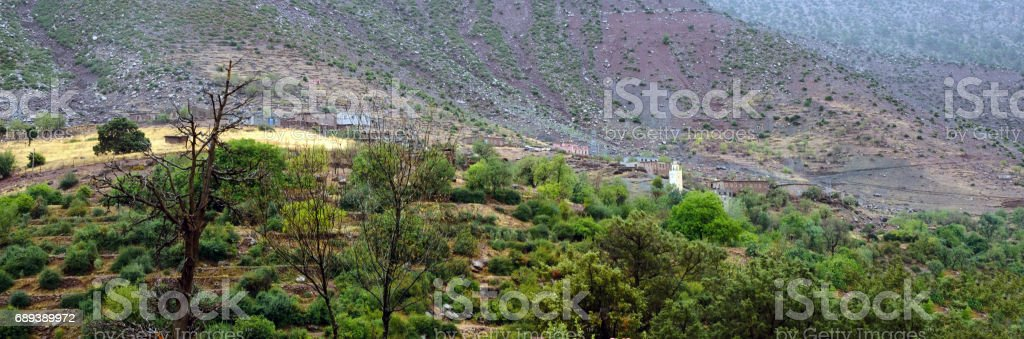 High Atlas mountain stock photo