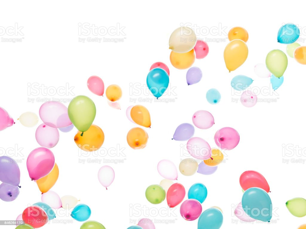 high balloons stock photo