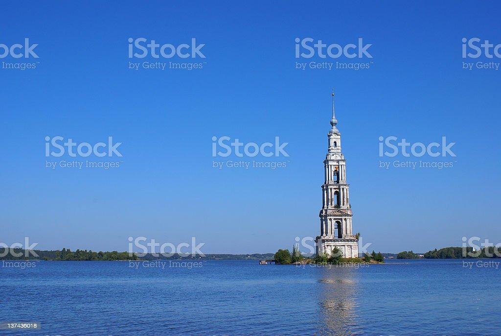 High belltower stock photo