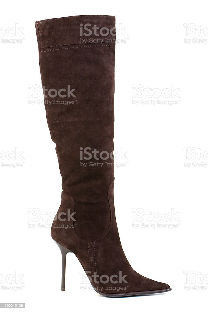 High boot, isolated on white stock photo