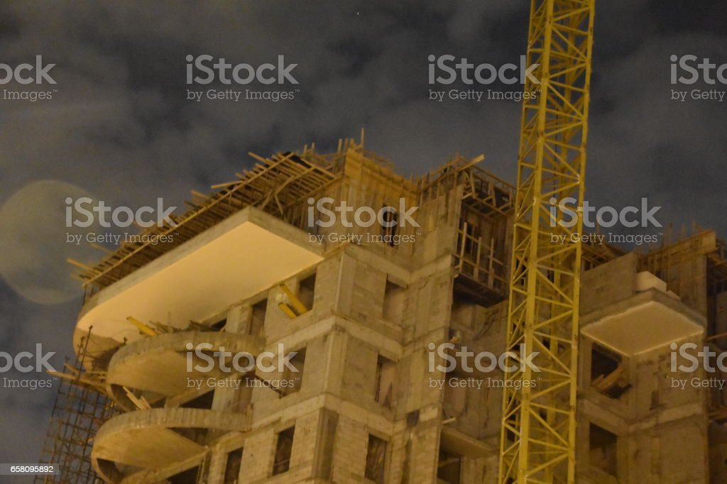 High buildings at night royalty-free stock photo