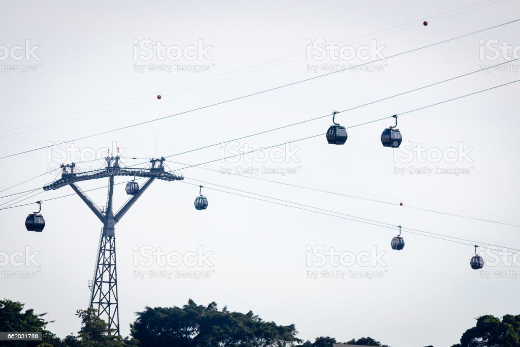 High cable car royalty-free stock photo