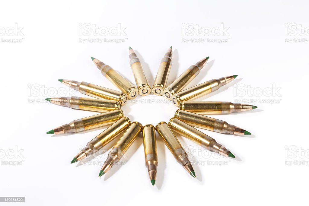 High Caliber Ammo royalty-free stock photo