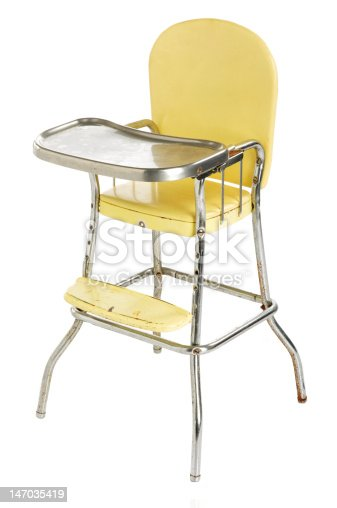 Old Yellow High Chair