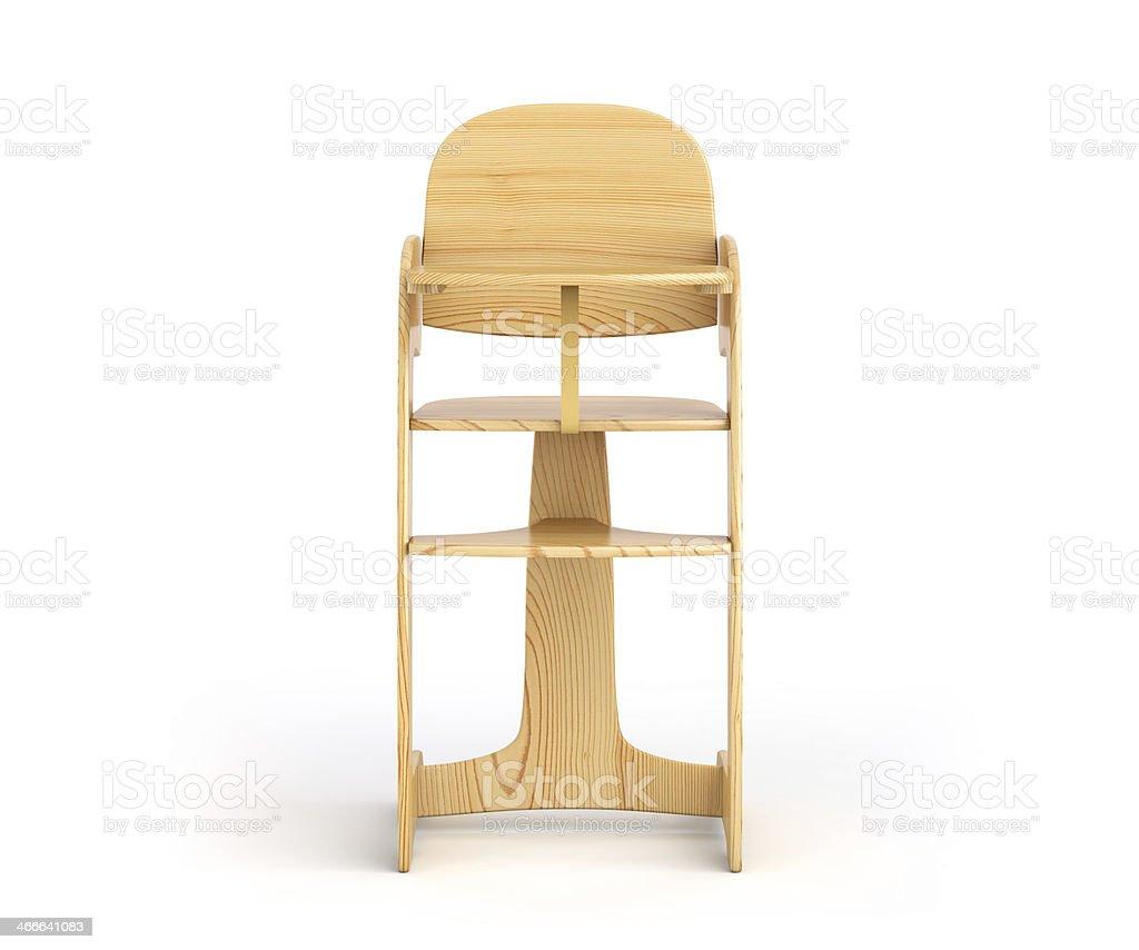 High chair stock photo