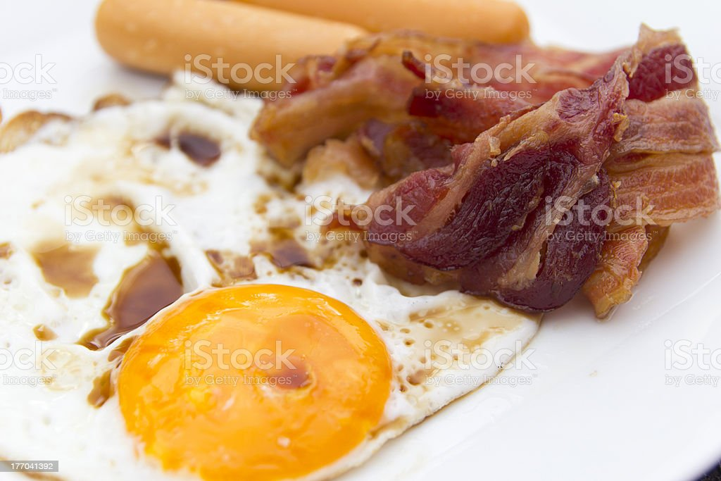 High cholesterol food bad for health and nutrition royalty-free stock photo