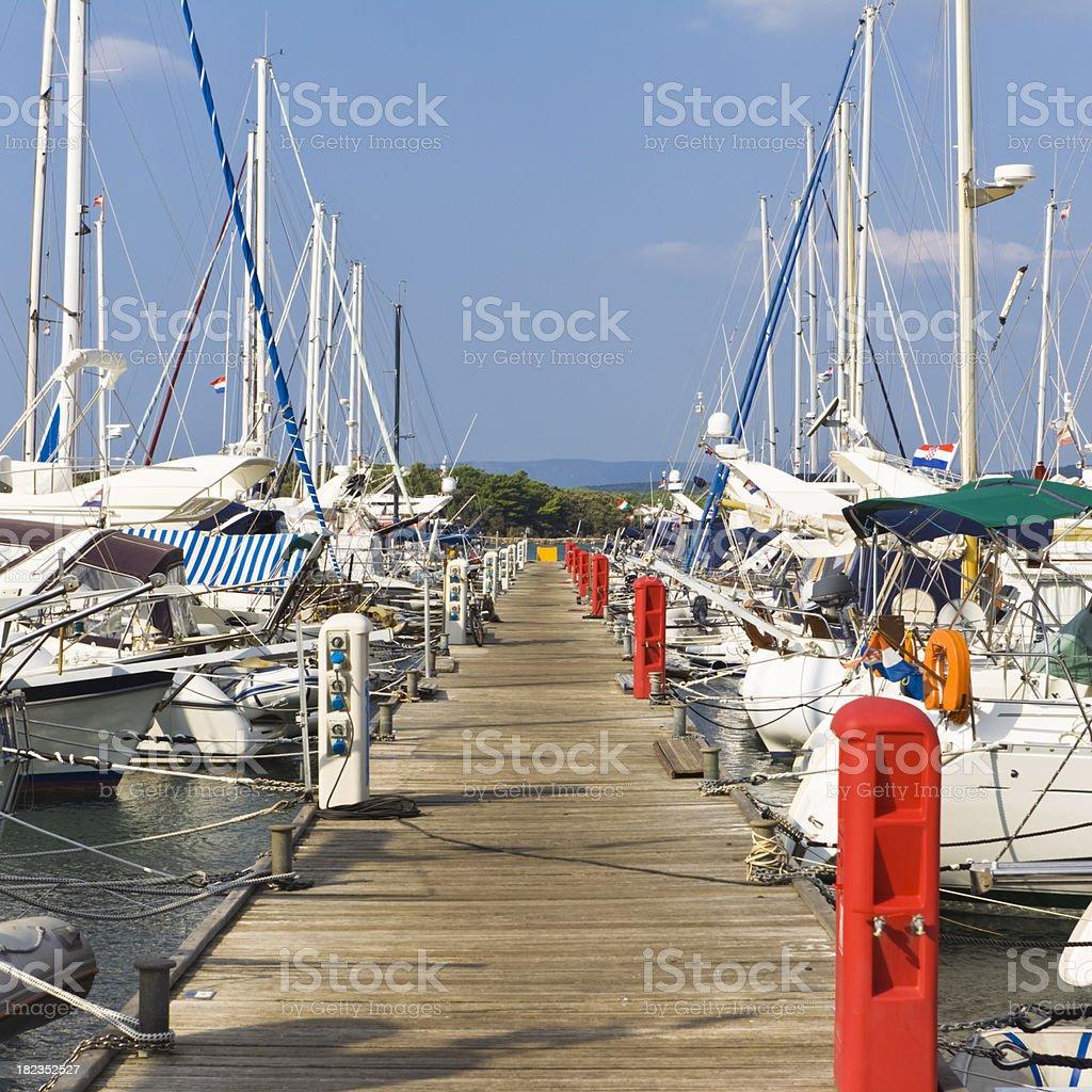 high class marina royalty-free stock photo