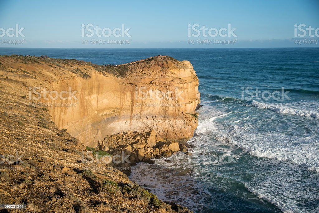 High cliff near Great Ocean Road, Australia foto royalty-free