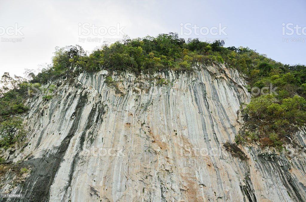 High cliffs of limestone mountain. royalty-free stock photo