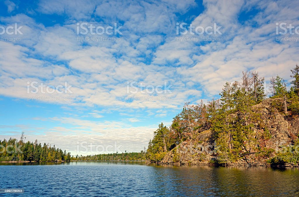High Clouds over Canoe Country stock photo