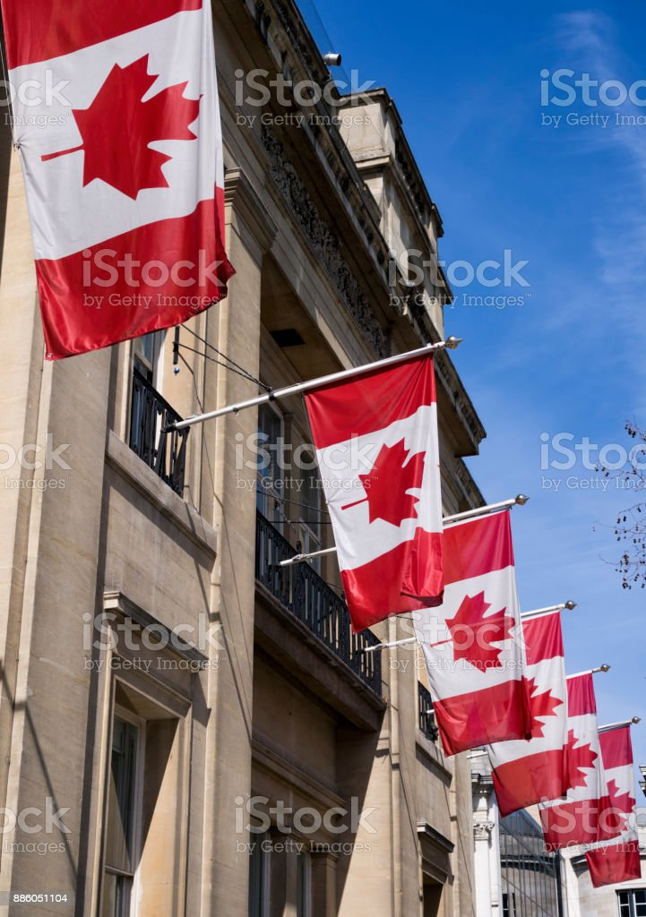 High Commission of Canada, London stock photo
