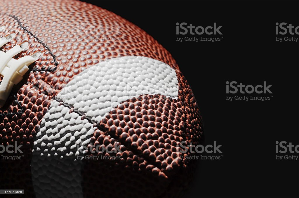 High contrast American Football stock photo
