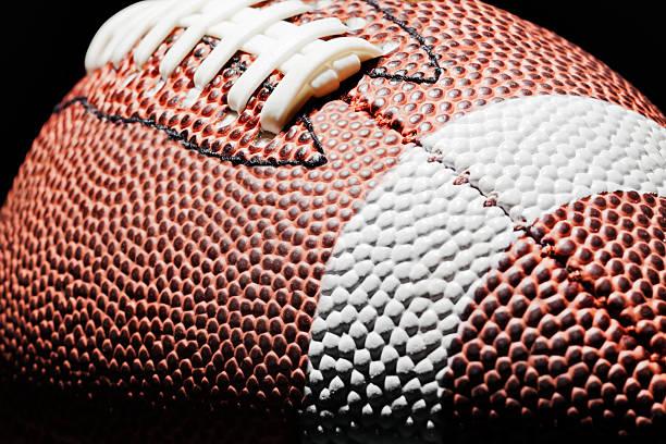 High contrast American Football stock photo