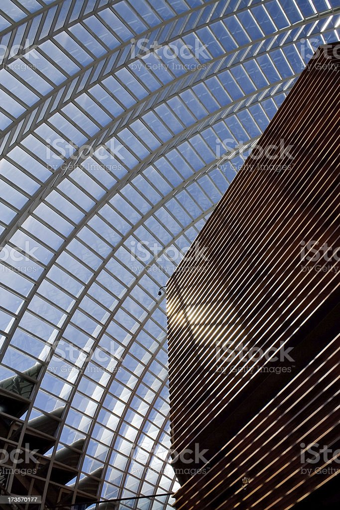High contrast architectural abstract - Kimmel Center for performing arts royalty-free stock photo