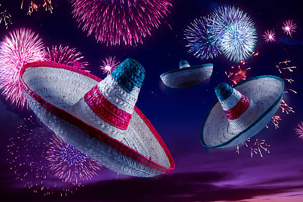 High contrast image of Mexican hat sombrero