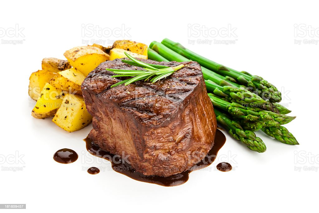 High contrast photograph of some Filet Mignon stock photo