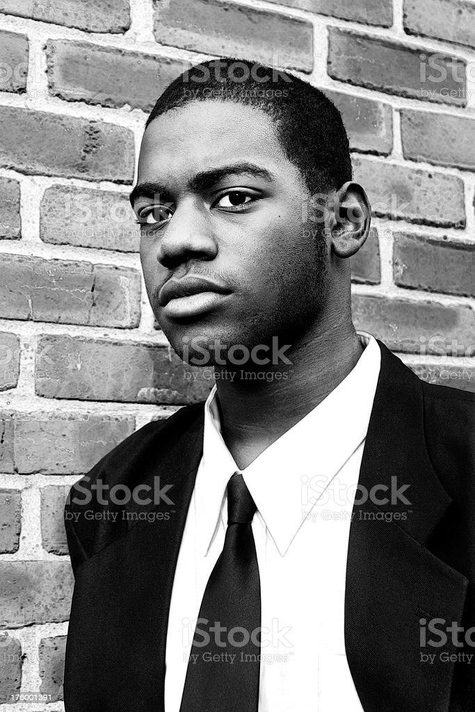 High Contrast Portrait stock photo