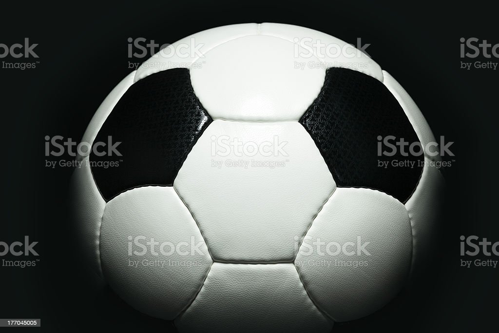 High Contrast Soccer Ball royalty-free stock photo