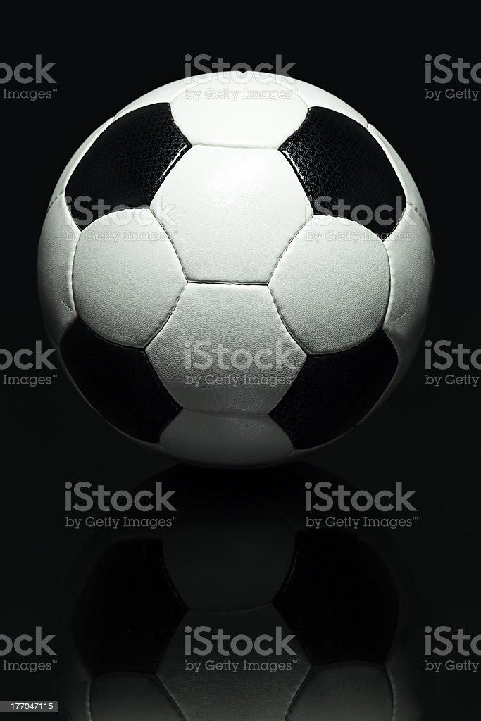 High Contrast Stylish Soccer Ball royalty-free stock photo