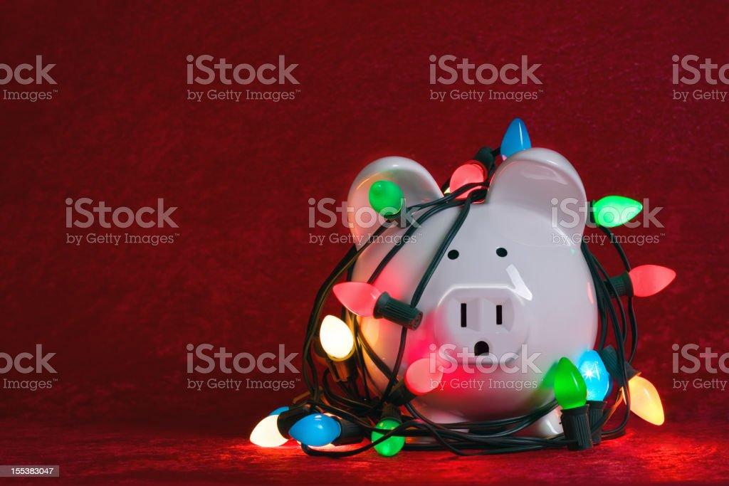 High cost of Christmas Lights stock photo