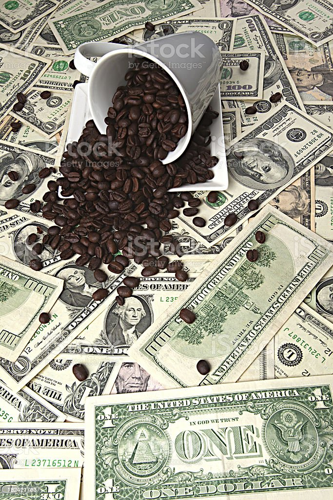 High Cost Of Coffee royalty-free stock photo