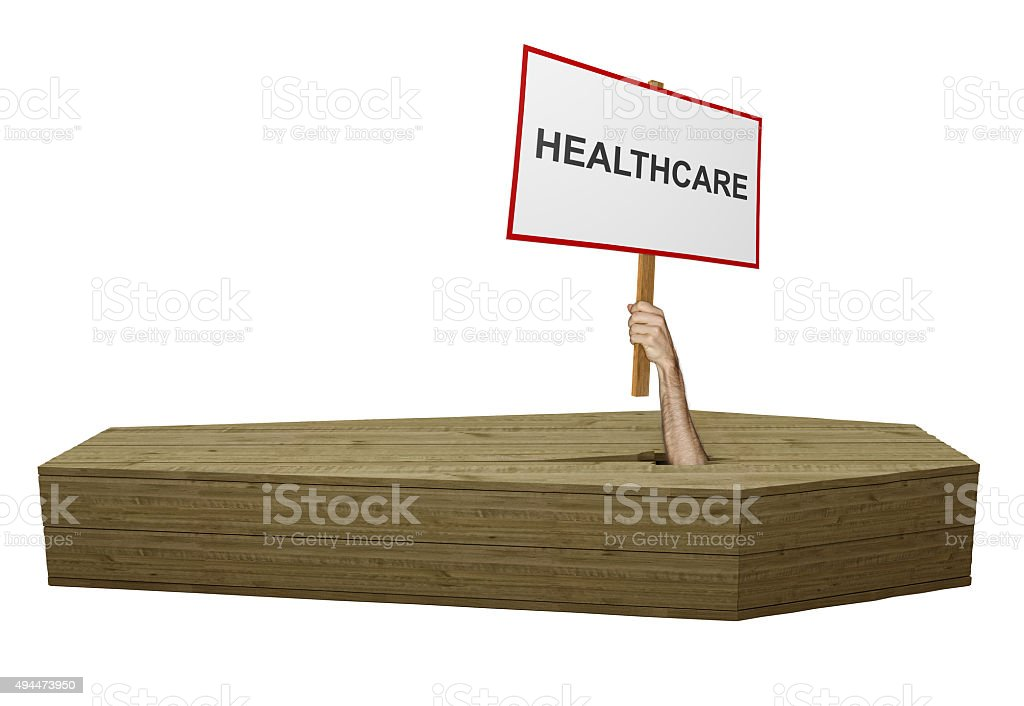 High cost of healthcare for the poorest in need stock photo