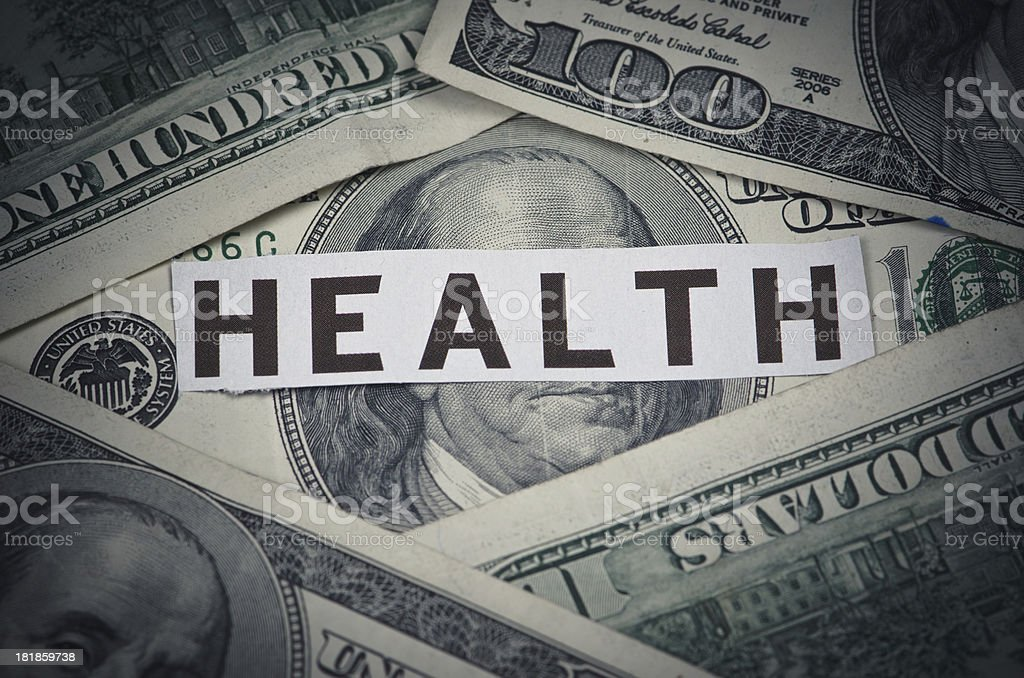 High Cost of Healthcare royalty-free stock photo