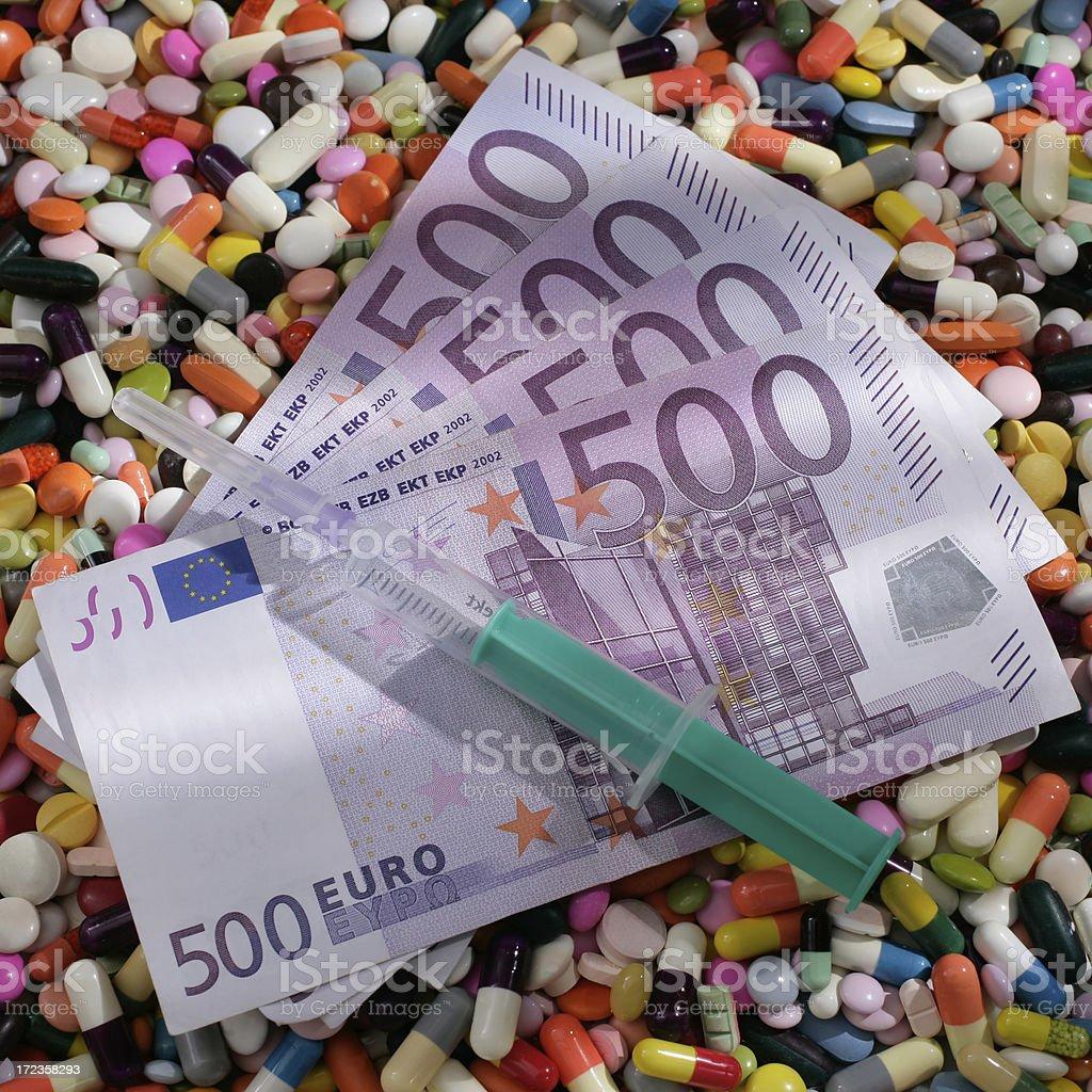 Alto costo de medicamento foto de stock libre de derechos