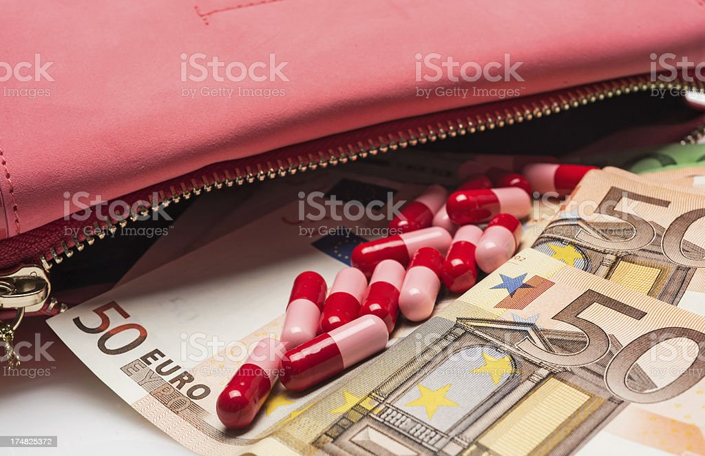 High cost of medicine royalty-free stock photo