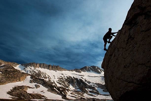 High Country Climbing stock photo
