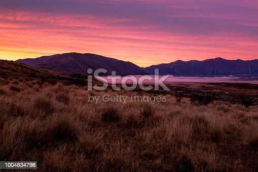 Nz South Island high country scenery