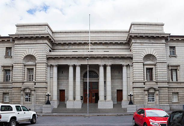 High Court in Cape Town Cape High Court in Cape Town, frontal view. Established in 1828. western cape province stock pictures, royalty-free photos & images