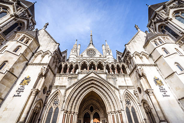 High Court of Justice, London, UK stock photo